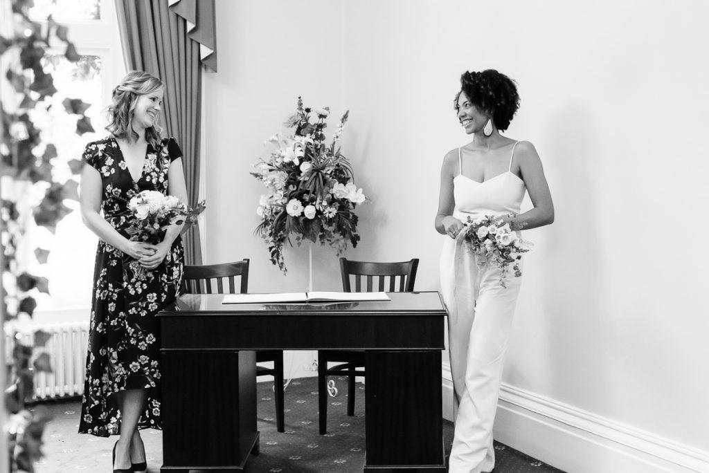 Intimate wedding ceremony in surrey